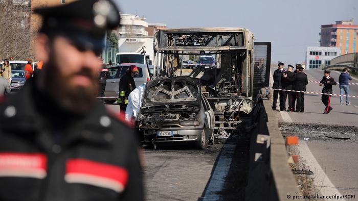 Italien | Mailand | Busfahrer Entführung & Brand