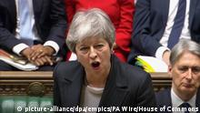 Großbritanien | Theresa May | Brexit (picture-alliance/dpa/empics/PA Wire/House of Commons)