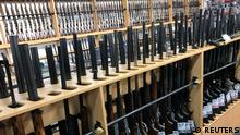 FILE PHOTO: Firearms are displayed at Gun City gunshop in Christchurch, New Zealand, March 19, 2019. REUTERS/Jorge Silva/File Photo