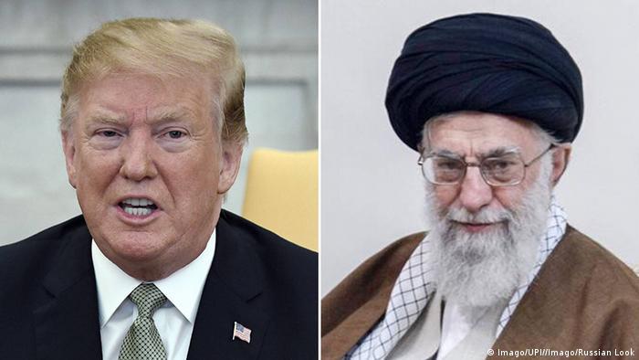 Bildkombo Donald Trump und Ali Khamenei (Imago/UPI//Imago/Russian Look)