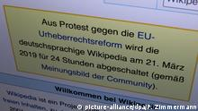 Wikipedia gegen EU-Urheberrechtsreform