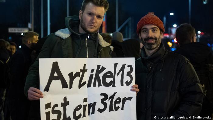 Demonstration gegen EU-Urheberrechtsreform CDU Zentrale Artikel 13