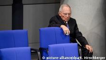 dpatopbilder - 21.02.2019, Berlin: Wolfgang Schäuble (CDU), Bundestagspräsident, wartet während der 83. Sitzung des Deutschen Bundestages auf eine Abstimmung. Foto: Ralf Hirschberger/dpa | Verwendung weltweit