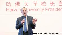 China Peking - Präsident der Harvard Univerität - Lawrence Bacow