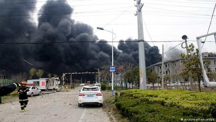 China, sechs Tote nach Explosion im Industrial Park in Yancheng (picture-alliance/dpa)