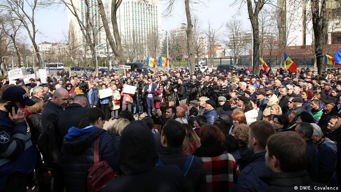 Proteste, Chisinau (DW/E. Covalenco)