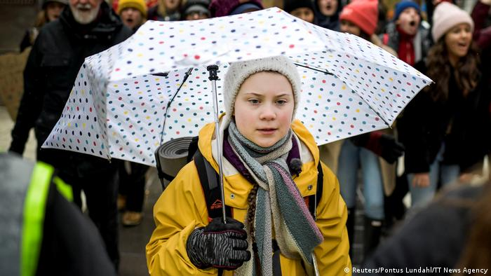 Schweden Klimaprotest in Stockholm | Global Strike For Future | Greta Thunberg (Reuters/Pontus Lundahl/TT News Agency)