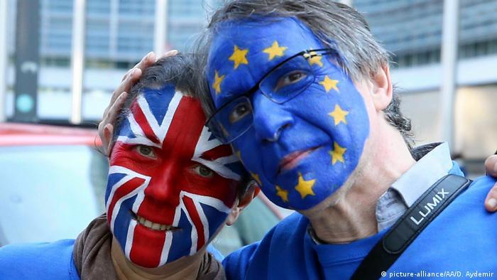 Belgien Proteste von Brexit-Gegner in Brüssel (picture-alliance/AA/D. Aydemir)