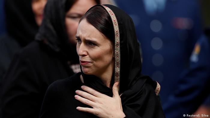 Neuseeland Trauer in Hagley Park, Christchurch | Premierministerin Jacinda Ardern