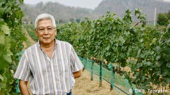 Visooth Lohitnavy, founder of GranMonte winery in Khao Yai, Thailand (DW/J. Tompkin)