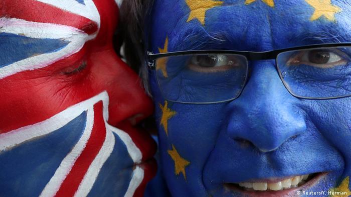 Belgien Protest gegen den Brexit (Reuters/Y. Herman )