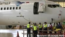 Indonesien Boeing 737 MAX 8 der Garuda Indonesia