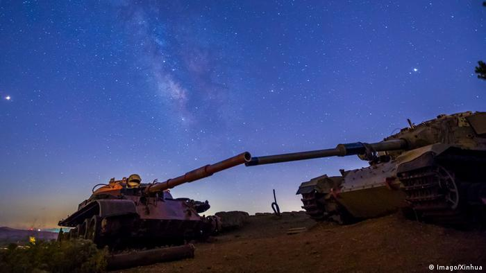 The Golan Heights at night