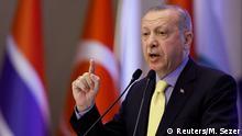 Türkei Rede von Erdogan beimTreffen der Organisation für Islamische Zusammenarbeit (OIC) in Istanbul