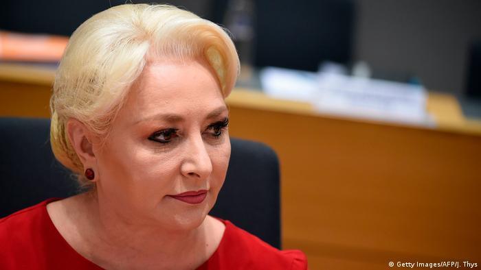 Rumänische Ministerpräsidentin Viorica Dancila in Brüssel