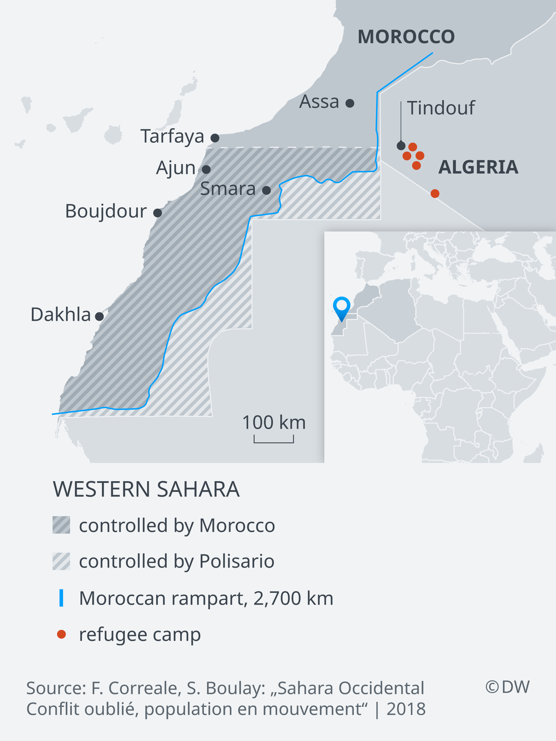 Sahara Karte.The Forgotten Refugees Of Western Sahara Africa Dw 22 03 2019