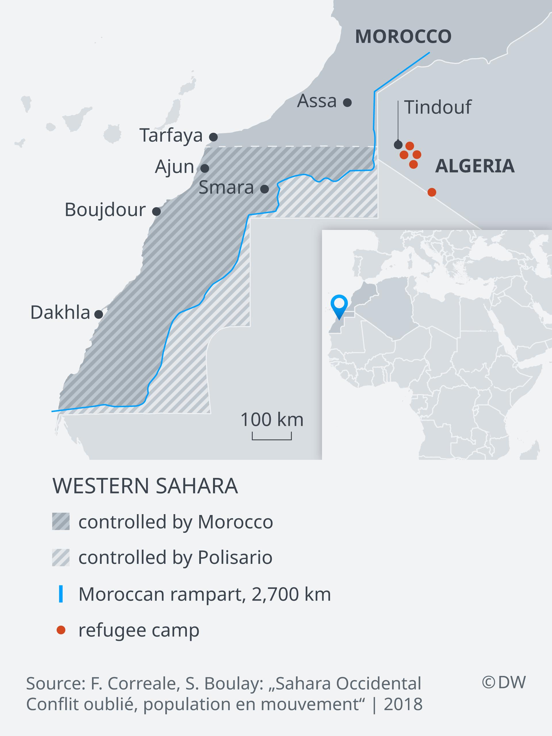 Kawasan konflik Sahara Barat