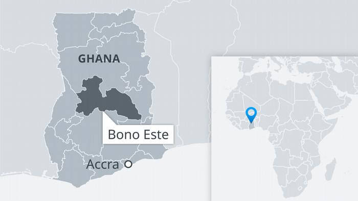 Infografik Karte Ghana Bono East Accra ES