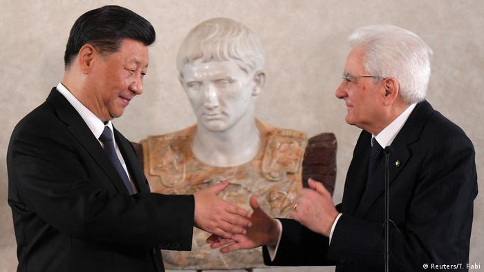Italien Rom Xi Jinping, Präsident China & Sergio Mattarella, Präsident