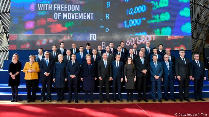 Участники саммита ЕС в Брюсселе