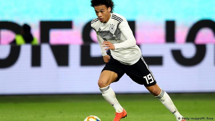 Leroy Sané beim Fußball-Länderspiel Deutschland-Serbien