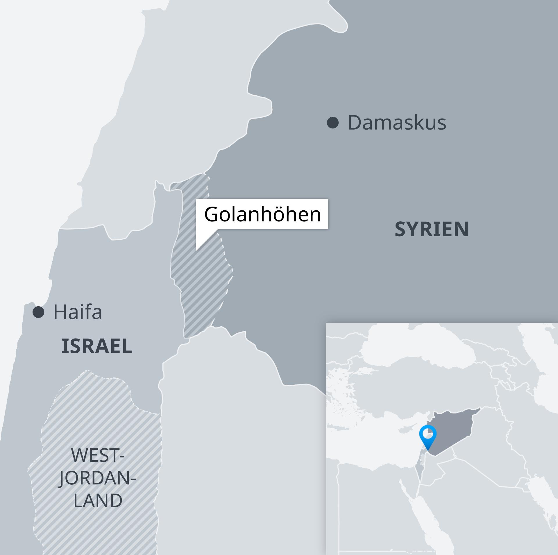 Karte Golanhöhen DE