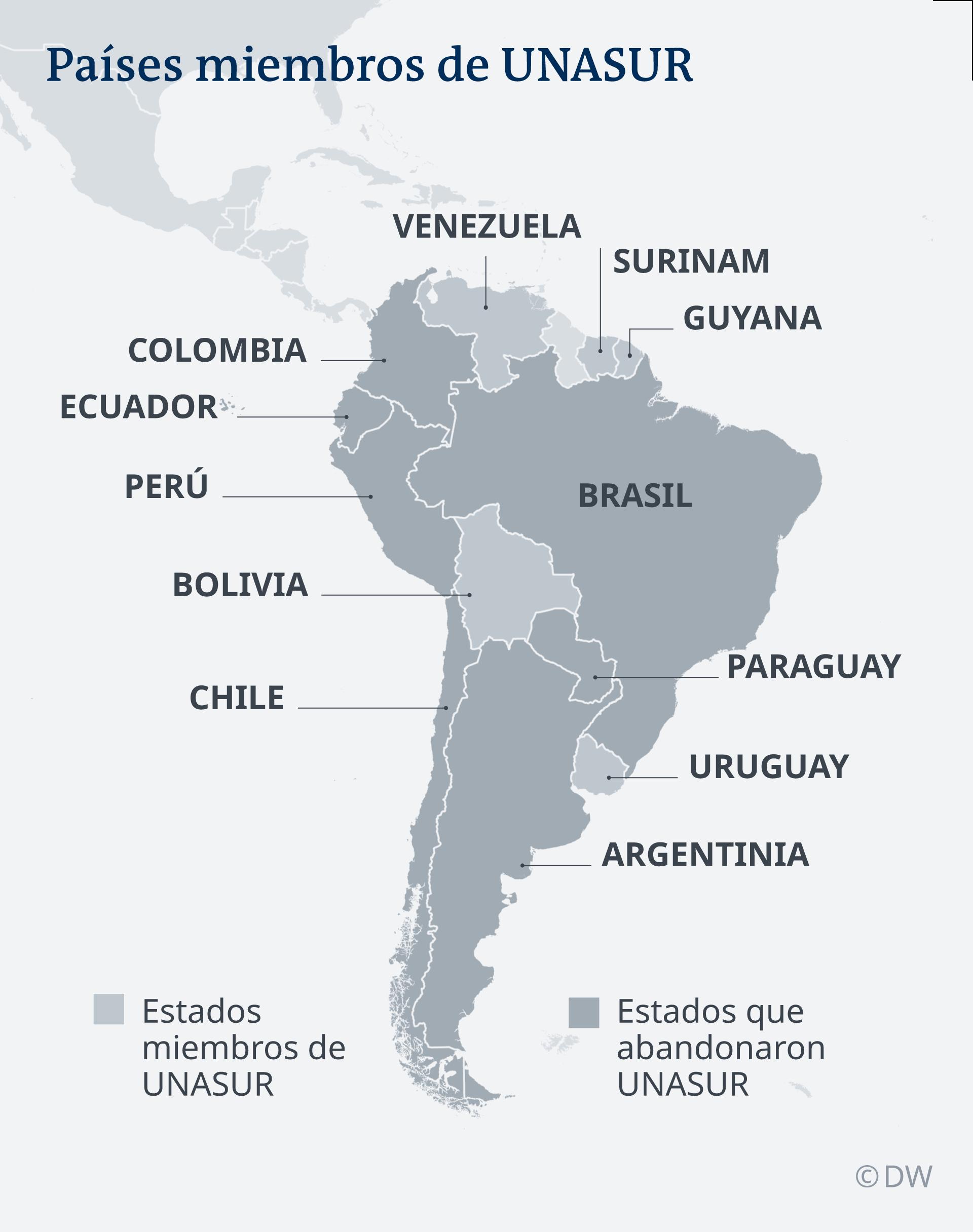 Brasil Oficializa Su Salida De Unasur América Latina Dw