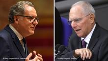 Bildkombo Richard Ferrand, Frankreich & Wolfgang Schäuble, Deutschland