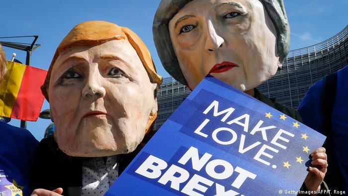 Belgien Brüssel Protest gegen Brexit (Getty Images/AFP/T. Roge)