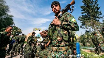 Bağuz'daki Suriye Demokratik Güçleri