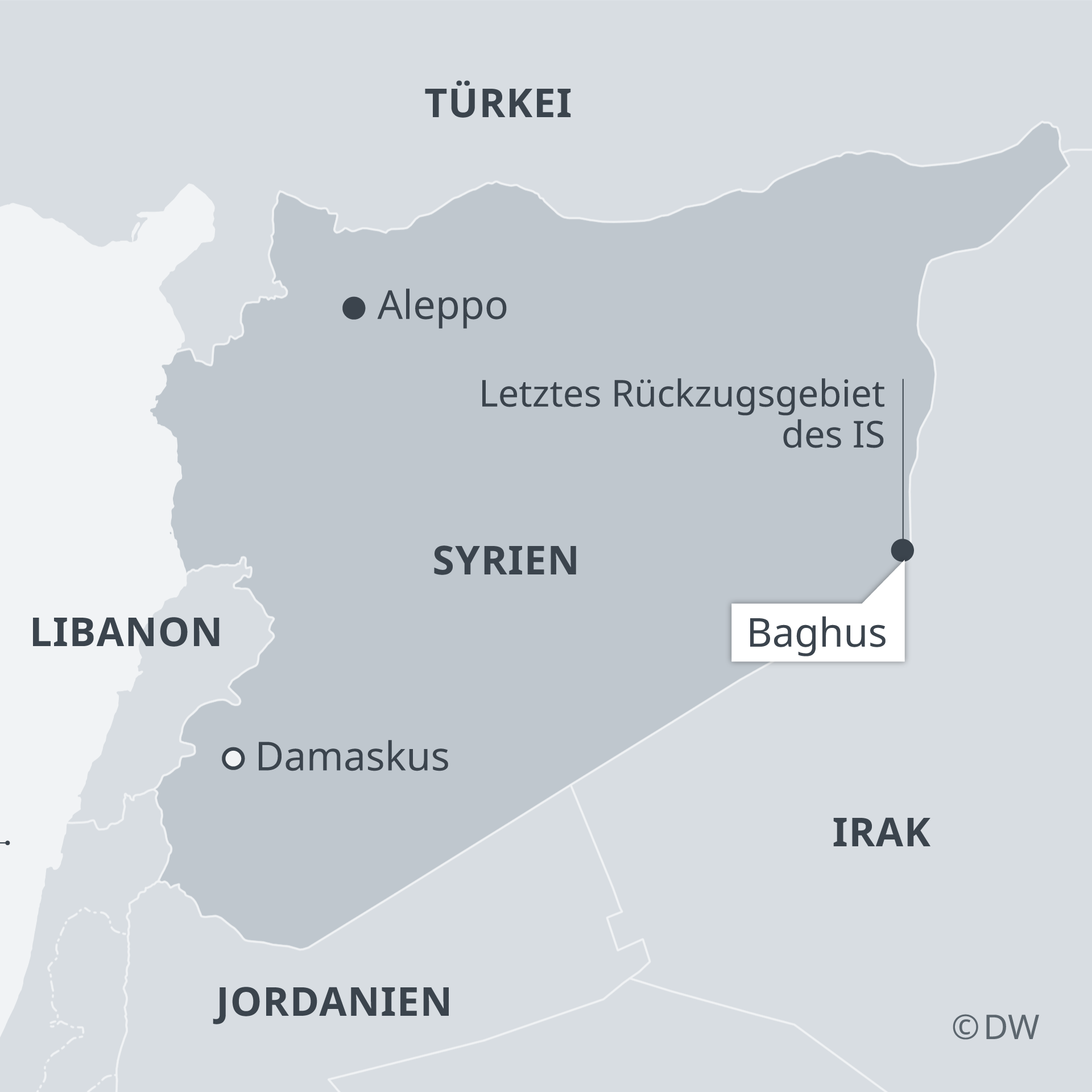 Karte Syrien.Kurdenmiliz Verkündet Sieg über Is In Syrien Aktuell Nahost Dw