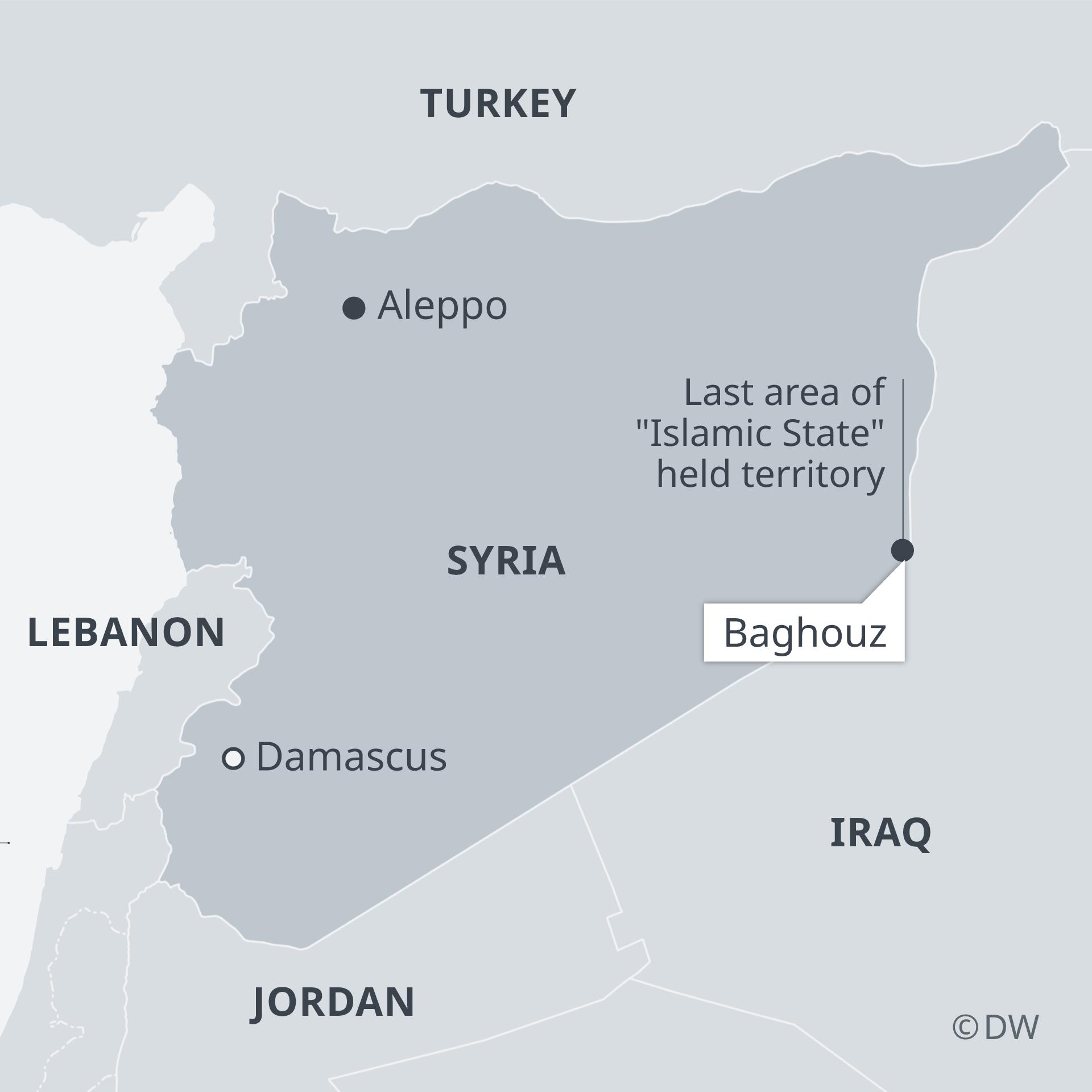 Infografik Karte Syrien mit Baghus EN