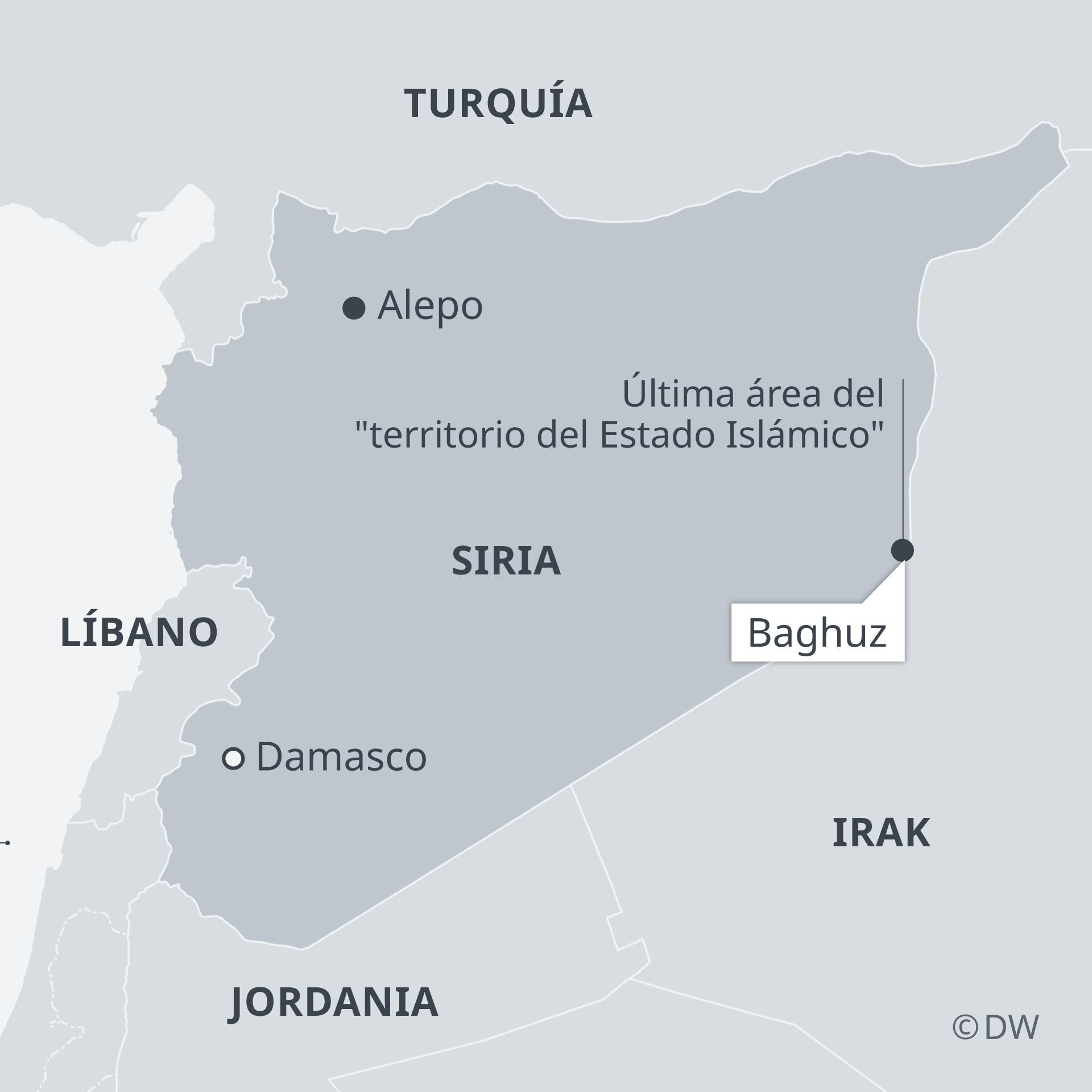 Infografik Karte Syrien mit Baghus ES