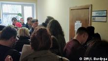 Wahlregister in Kiew Ihor Burdyga, DW-Korrespondent in der Ukraine Stichwörter: Ukraine, Kyiv, Kiev, Innenflüchtlinge, Präsidentschaftswahlen 2019