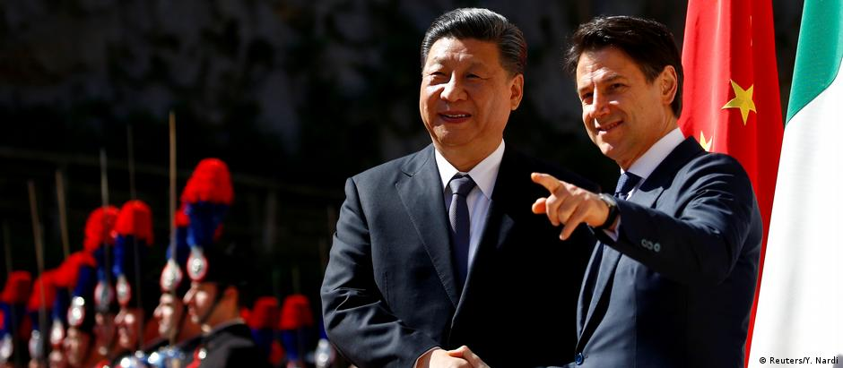 Italien Rom | Xi Jinping, Präsident China & Giuseppe Conte, Premierminister (Reuters/Y. Nardi)
