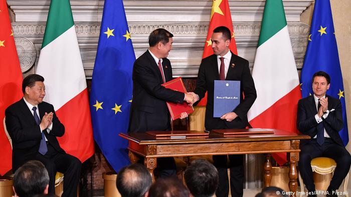 Xi Jinping, He Lifeng & Luigi Di Maio & Giuseppe Conte