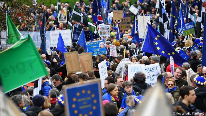 Demonstration gegen den Brexit in London, Großbritannien