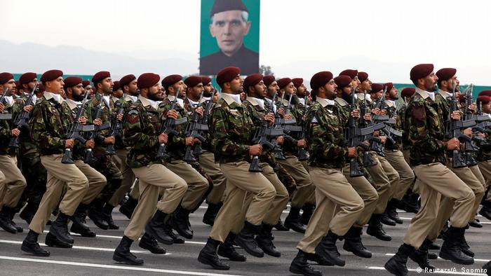 Commandos from the Special Services Group (SSG) march during Pakistan Day military parade in Islamabad, Pakistan