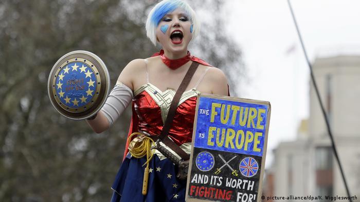 Großbritannien London People's Vote Demonstration (picture-alliance/dpa/K. Wigglesworth)