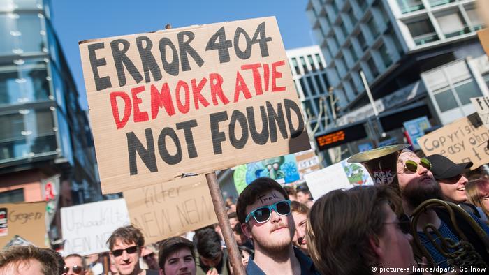 Stuttgart Proteste gegen EU-Urheberrechtsreform