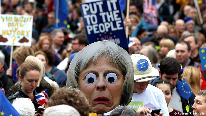 Teilnehmer der Anti-Brexit-Demonstration in London