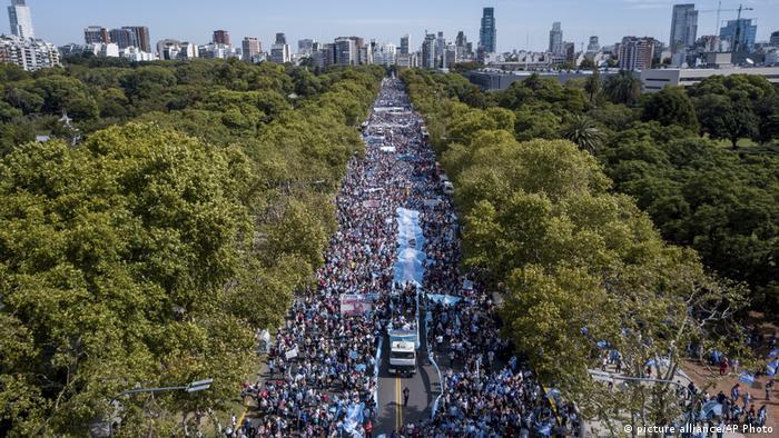 Buenos Aires Demonstration Abtreibungsgegner