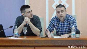 Bosnien-Herzegowina Mostar Vuk Bacanovic und Ivan Susnjar