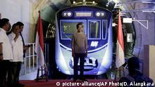 Indonesien Jakarte Neue U-Bahn (MRT)