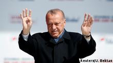 Türkei Istanbul Walhkampfauftritt Präsident Erdogan
