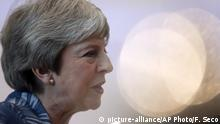 British Prime Minister Theresa May speaks with the media as she arrives for an EU-Arab summit at the Sharm El Sheikh convention center in Sharm El Sheikh, Egypt, Sunday, Feb. 24, 2019. British Prime Minister Theresa May is set to hold Brexit held talks with European Council President Donald Tusk ahead of a potentially pivotal week for her plans to lead her country out of the European Union. (AP Photo/Francisco Seco) |.