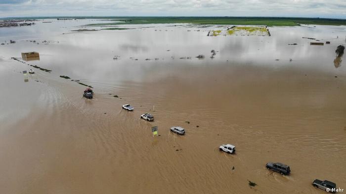 Iran Überschwemmungen in der Provinz Golestan, Aqqala