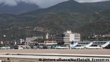 27.09.2018 Terminal, ramp and airport overview of Caracas Airport, Simón Bolívar International Airport in Venezuela CCS / SVMI. It is located in Maiquetía, Vargas about 20KM away from the serving capital, Caracas. The airport is a hub for Conviasa, LASER Airlines, Solar Cargo and Transcarga. (Photo by Nicolas Economou/NurPhoto) | Keine Weitergabe an Wiederverkäufer.