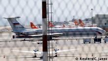 Venezuela Caracas Flughafen russisches Flugzeug