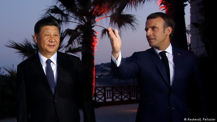 Frankreich Beaulieu-sur-Mer Xi Jinping bei Macron